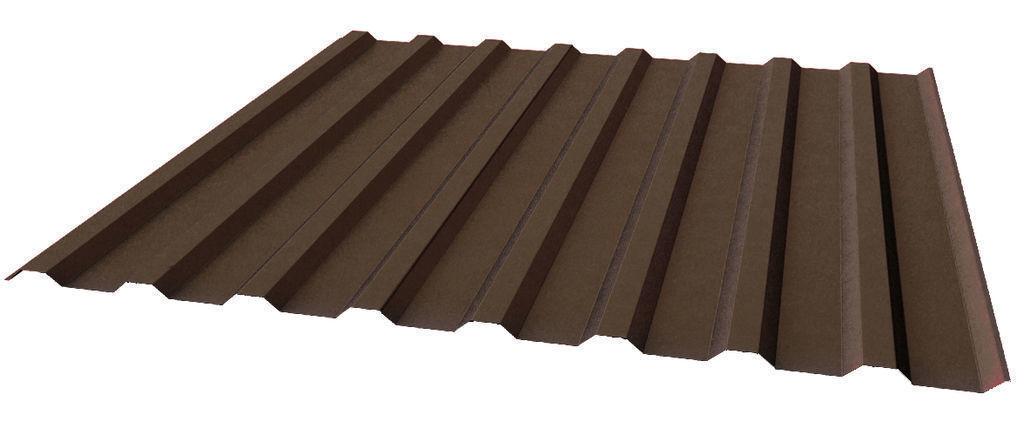 """Профилированный лист МП 20 PURETAN 05мм """"Тёмно-коричневый"""""""