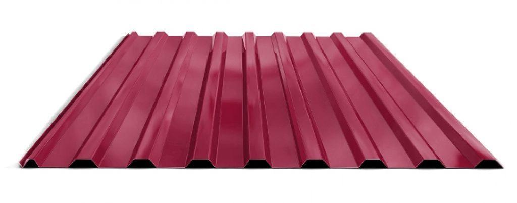 Профилированный лист МП 20 NORMAN 05mm 3003 Красный рубин