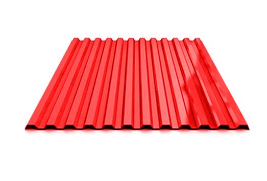 Профилированный лист МП 20 NORMAN 05mm 3020 Красный насыщенный