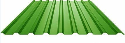 Профилированный лист МП 20 NORMAN 05mm 6002 Зеленый лист
