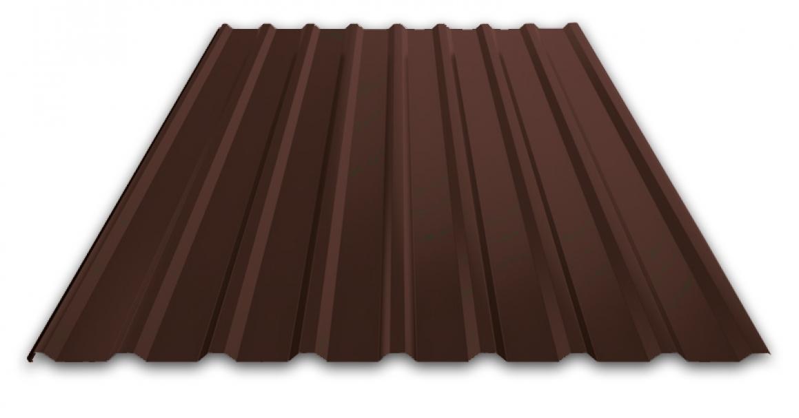 Профилированный лист МП 20 NORMAN 05mm 8017 Шоколад