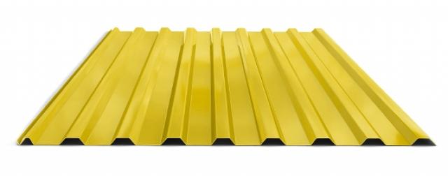 Профилированный лист МП 20 NORMAN 05mm 1018 желтый цинк