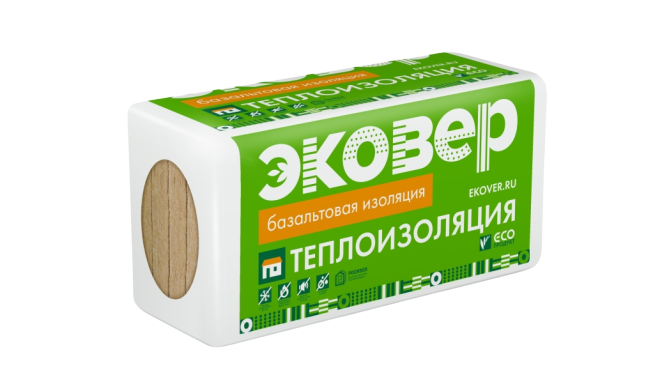 Плита минераловатная Эковер Лайт 45г/м2
