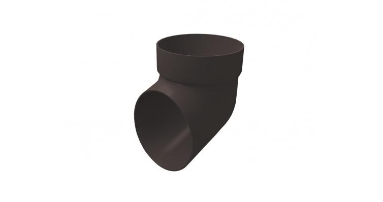 Сливное колено Ø87 коричневое