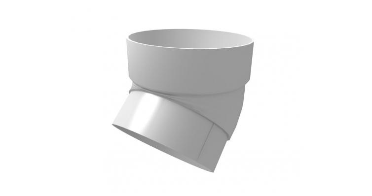 Колено трубы Ø80, 45° белое