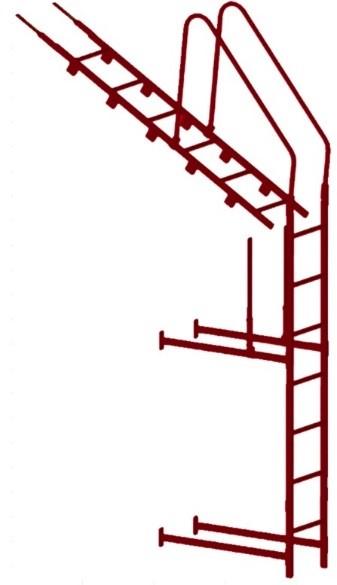 Лестница кровельная, стеновая без кронштейнов