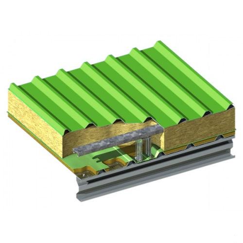Стеновая трехслойная сэндвич-панель Airpanel с креплением S-fix 80  мм