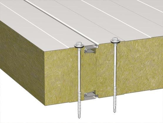 Стеновая трехслойная сэндвич-панель с видимым креплением Z-Lock 250 мм